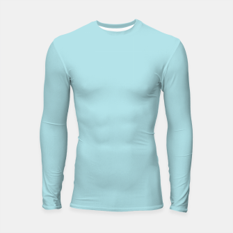 Thumbnail image of color powder blue Longsleeve rashguard , Live Heroes