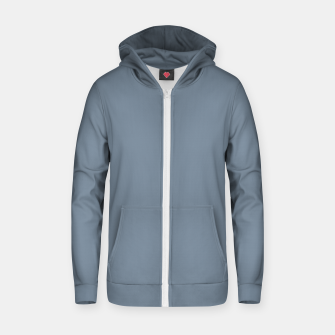 Thumbnail image of color light slate grey Zip up hoodie, Live Heroes