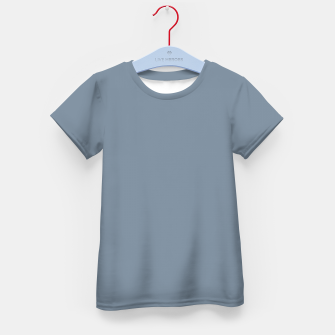 Thumbnail image of color light slate grey Kid's t-shirt, Live Heroes