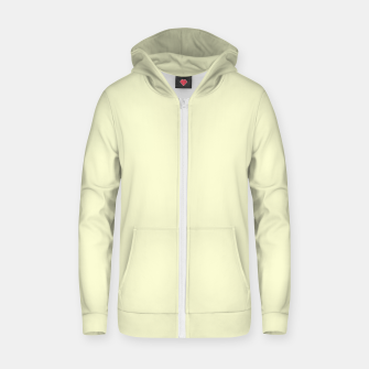 Miniatur color light goldenrod yellow Zip up hoodie, Live Heroes