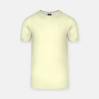 Miniatur color light goldenrod yellow T-shirt, Live Heroes