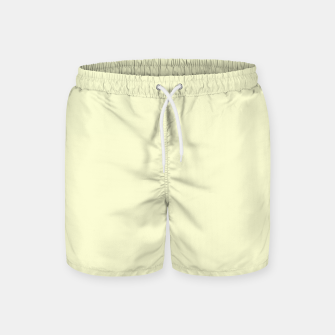 Miniatur color light goldenrod yellow Swim Shorts, Live Heroes