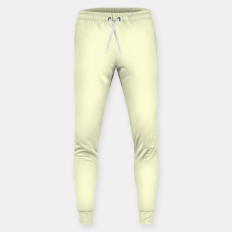 Miniatur color light goldenrod yellow Sweatpants, Live Heroes