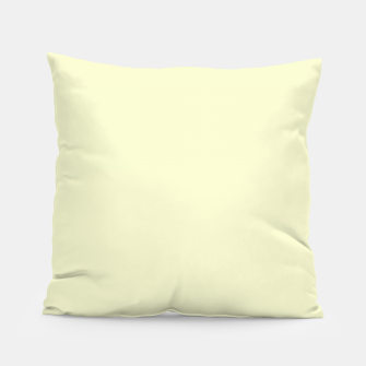 Miniatur color light goldenrod yellow Pillow, Live Heroes