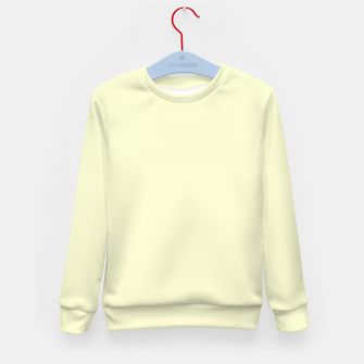 Miniatur color light goldenrod yellow Kid's sweater, Live Heroes