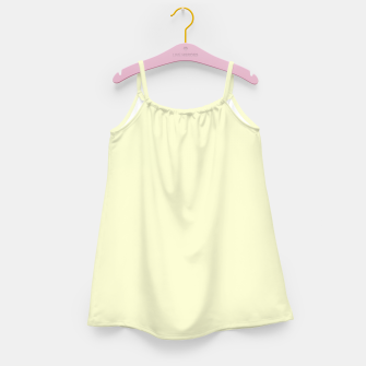 Miniatur color light goldenrod yellow Girl's dress, Live Heroes