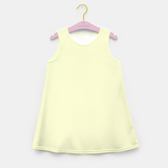 Miniatur color light goldenrod yellow Girl's summer dress, Live Heroes
