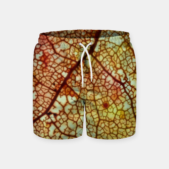 Thumbnail image of leafstructure orange Badeshorts, Live Heroes