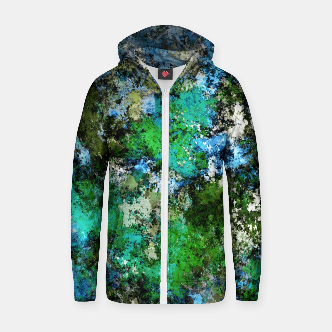 Image of The wet and the moss Zip up hoodie - Live Heroes