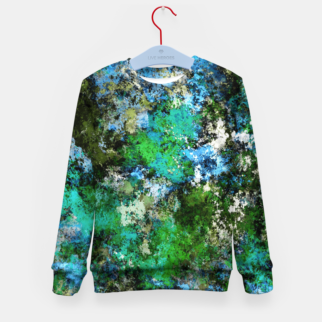 Image of The wet and the moss Kid's sweater - Live Heroes