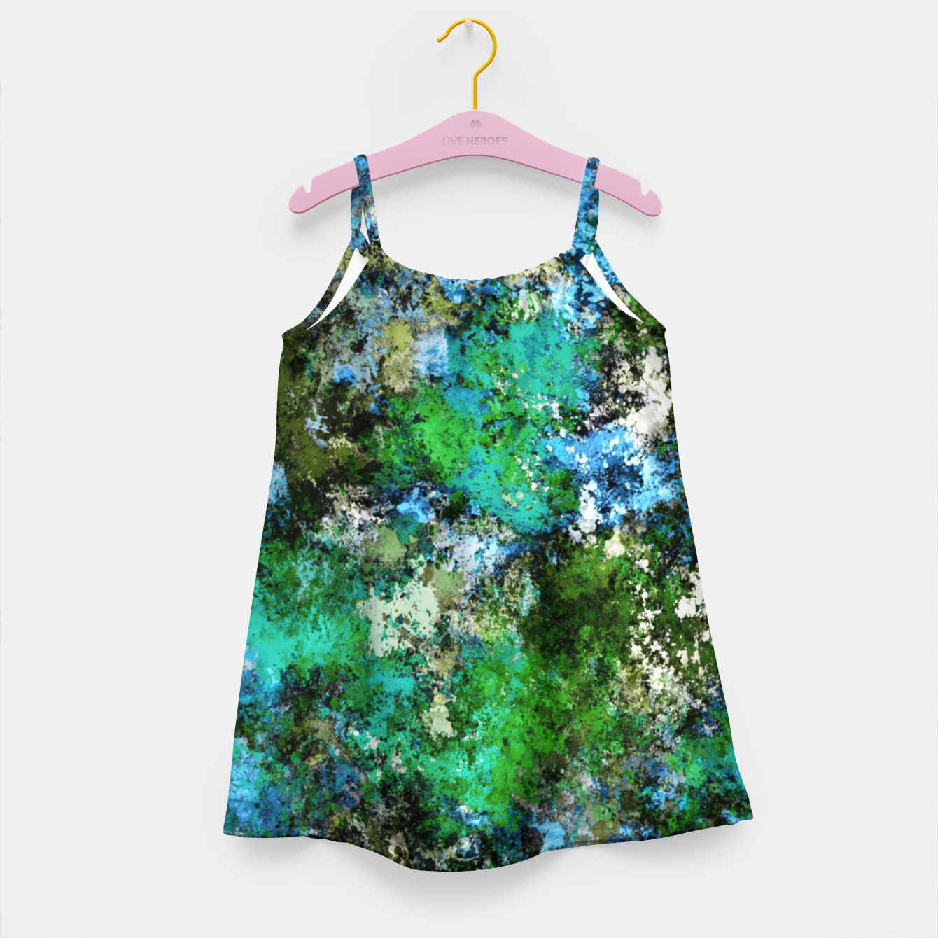 Image of The wet and the moss Girl's dress - Live Heroes