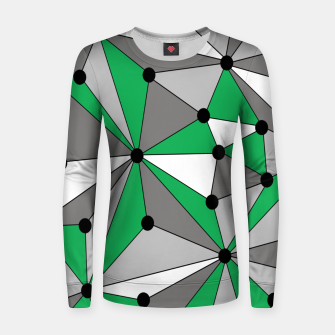 Thumbnail image of Abstract geometric pattern - green and gray. Women sweater, Live Heroes