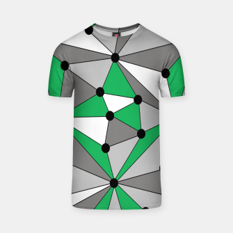 Thumbnail image of Abstract geometric pattern - green and gray. T-shirt, Live Heroes