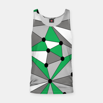 Thumbnail image of Abstract geometric pattern - green and gray. Tank Top, Live Heroes