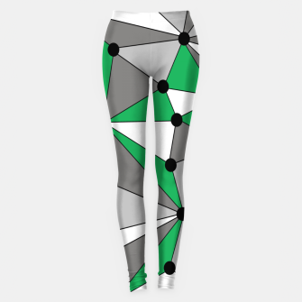 Thumbnail image of Abstract geometric pattern - green and gray. Leggings, Live Heroes