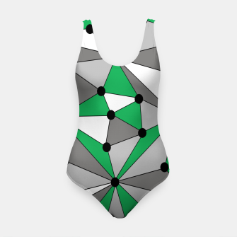 Miniature de image de Abstract geometric pattern - green and gray. Swimsuit, Live Heroes