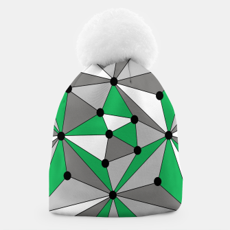 Miniatur Abstract geometric pattern - green and gray. Beanie, Live Heroes