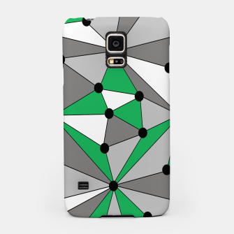 Miniaturka Abstract geometric pattern - green and gray. Samsung Case, Live Heroes