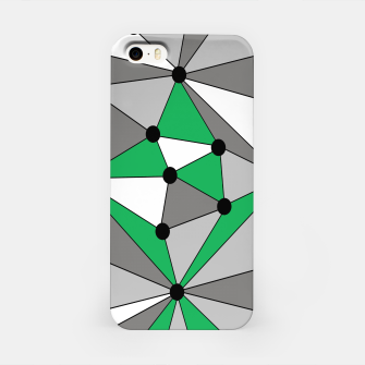 Miniature de image de Abstract geometric pattern - green and gray. iPhone Case, Live Heroes