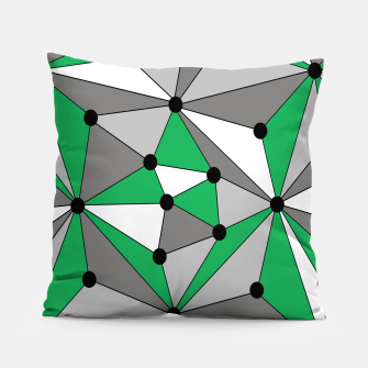 Miniatur Abstract geometric pattern - green and gray. Pillow, Live Heroes
