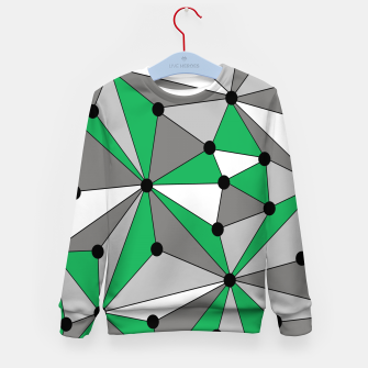 Miniatur Abstract geometric pattern - green and gray. Kid's sweater, Live Heroes