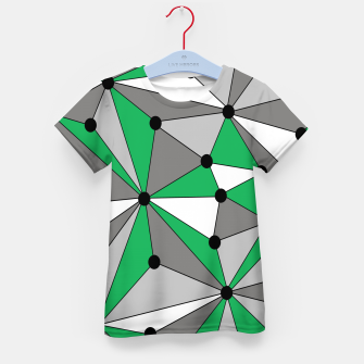 Miniatur Abstract geometric pattern - green and gray. Kid's t-shirt, Live Heroes