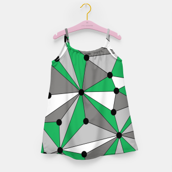 Miniatur Abstract geometric pattern - green and gray. Girl's dress, Live Heroes