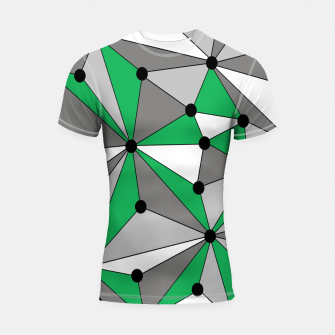 Miniature de image de Abstract geometric pattern - green and gray. Shortsleeve rashguard, Live Heroes