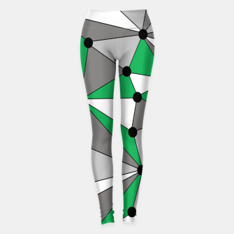Miniature de image de Abstract geometric pattern - green and gray. Leggings, Live Heroes