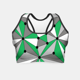Miniatur Abstract geometric pattern - green and gray. Crop Top, Live Heroes