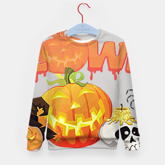 Thumbnail image of classic halloween Kid's sweater, Live Heroes