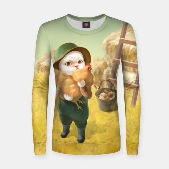 Thumbnail image of Chicken Hug Women sweater, Live Heroes
