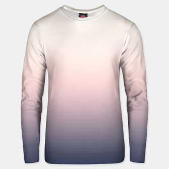Pastel navy pink beige gradient ombre summer stylish color pure soft light monochrome Unisex sweater Bild der Miniatur