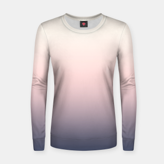 Pastel navy pink beige gradient ombre summer stylish color pure soft light monochrome Women sweater Bild der Miniatur