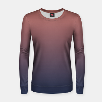 Dark navy brown duotone gradient ombre stylish color pure soft light monochrome Women sweater thumbnail image