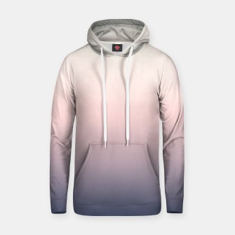 Pastel navy pink beige gradient ombre summer stylish color pure soft light monochrome Hoodie Bild der Miniatur