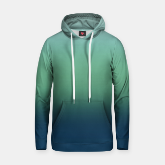 Blue green blue ombre green bottle color sea ocean blurred Hoodie thumbnail image