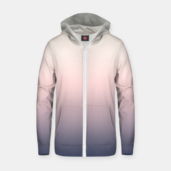Pastel navy pink beige gradient ombre summer stylish color pure soft light monochrome Zip up hoodie Bild der Miniatur