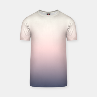 Pastel navy pink beige gradient ombre summer stylish color pure soft light monochrome T-shirt Bild der Miniatur