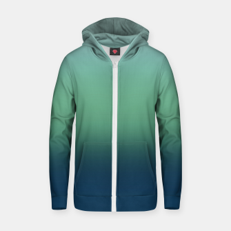 Blue green blue ombre green bottle color sea ocean blurred Zip up hoodie thumbnail image