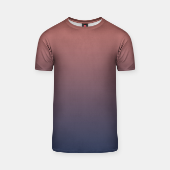 Dark navy brown duotone gradient ombre stylish color pure soft light monochrome T-shirt thumbnail image