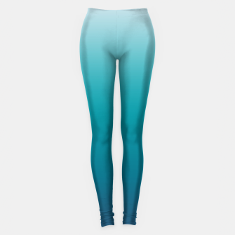 Imagen en miniatura de Pastel deep blue navy gray duotone sea ocean water gradient ombre summer stylish color pure soft light monochrome surfing Leggings, Live Heroes