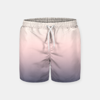 Pastel navy pink beige gradient ombre summer stylish color pure soft light monochrome Swim Shorts Bild der Miniatur