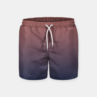 Dark navy brown duotone gradient ombre stylish color pure soft light monochrome Swim Shorts thumbnail image