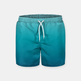 Pastel deep blue navy gray duotone sea ocean water gradient ombre summer stylish color pure soft light monochrome surfing Swim Shorts Bild der Miniatur
