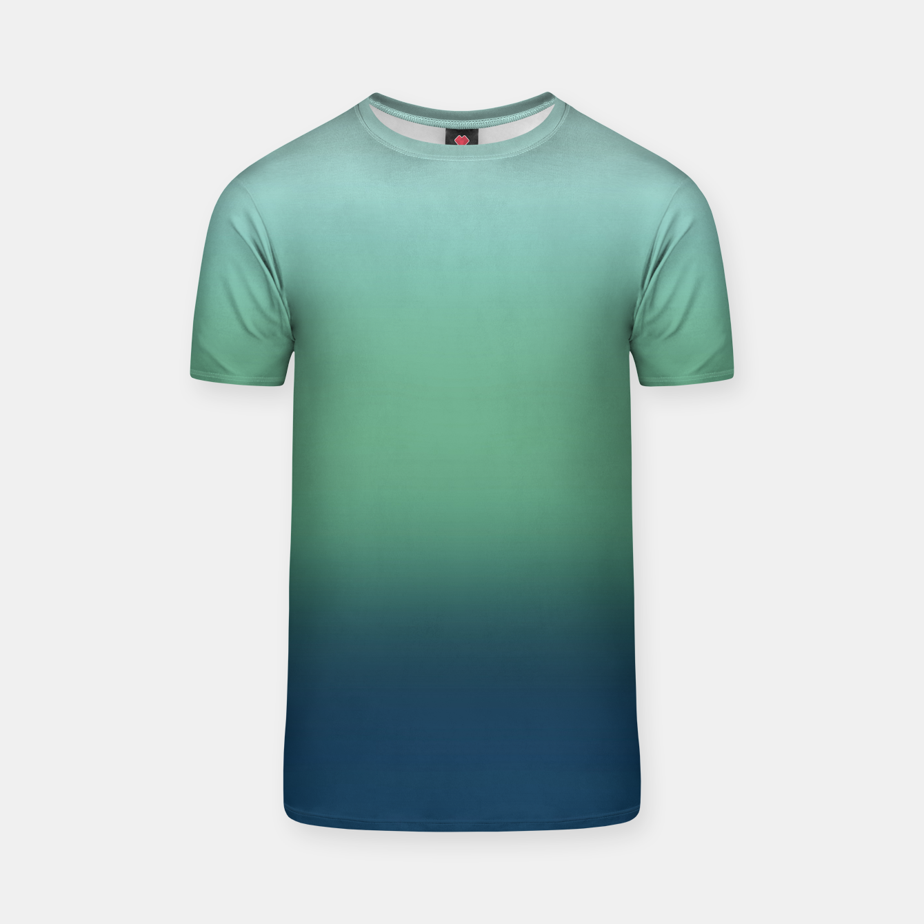 Image of Blue green blue ombre green bottle color sea ocean blurred T-shirt - Live Heroes
