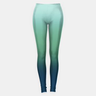 Imagen en miniatura de Blue green blue ombre green bottle color sea ocean blurred Leggings, Live Heroes