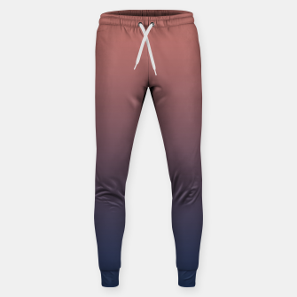 Dark navy brown duotone gradient ombre stylish color pure soft light monochrome Sweatpants thumbnail image