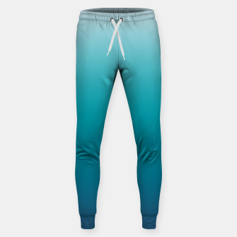 Imagen en miniatura de Pastel deep blue navy gray duotone sea ocean water gradient ombre summer stylish color pure soft light monochrome surfing Sweatpants, Live Heroes