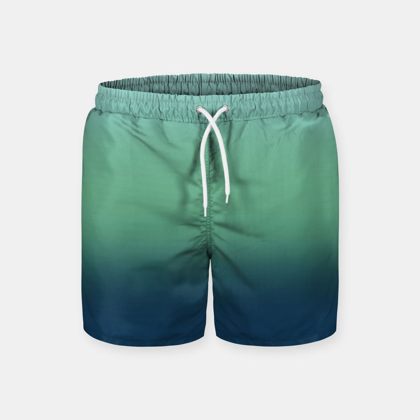 Image of Blue green blue ombre green bottle color sea ocean blurred Swim Shorts - Live Heroes